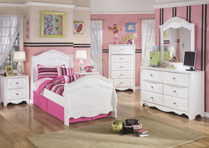 Image for Exquisite Twin Sleigh Bed, Dresser & Mirror