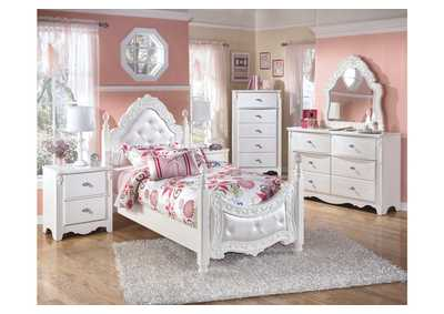 Image for Exquisite Twin Poster Bed, Dresser & Mirror