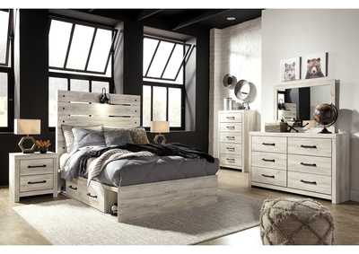 Image for Cambeck Full Panel Bed with 4 Storage Drawers, Dresser and Mirror
