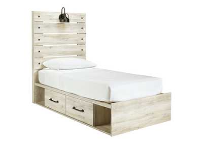 Image for Cambeck Twin Panel Bed with 2 Storage Drawers