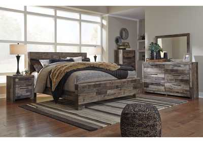 Derekson King Panel Bed w/Dresser and Mirror