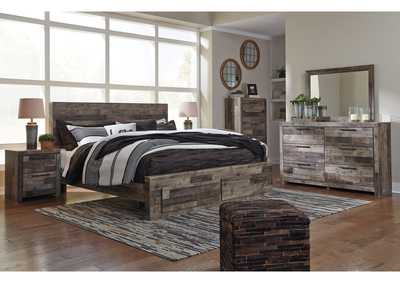 Derekson King Platform Bed w/Dresser and Mirror,Benchcraft