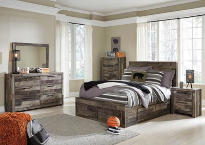 Image for Derekson Full Storage Bed w/Dresser and Mirror