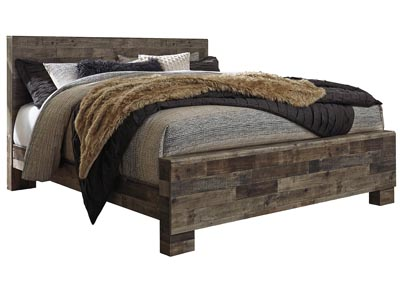 Image for Derekson Multi Gray King Panel Bed