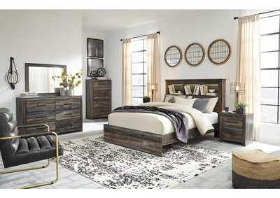 Image for Drystan Queen Bookcase Bed w/Dresser and Mirror