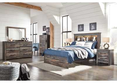 Image for Drystan Full Bookcase Bed w/Dresser and Mirror