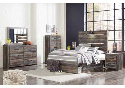 Drystan Full Panel Bed with 2 Storage Drawers w/Dresser and Mirror,Signature Design By Ashley