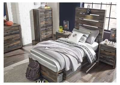 Drystan Twin Panel Bed with 2 Storage Drawers,Signature Design By Ashley
