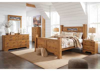 Image for Bittersweet Light Brown Queen Poster Bed w/Dresser & Mirror