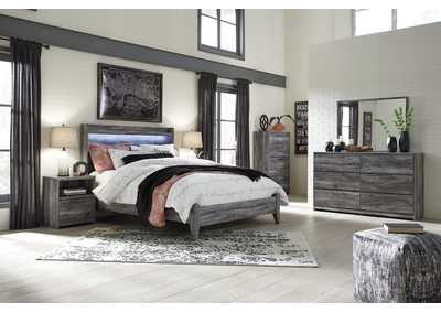 Image for Baystorm Gray Queen Panel Bed w/Dresser and Mirror