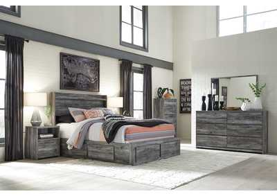 Image for Baystorm Gray Queen Storage Bed w/Dresser and Mirror
