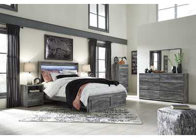 Image for Baystorm Queen Platform Storage Bed w/Dresser and Mirror