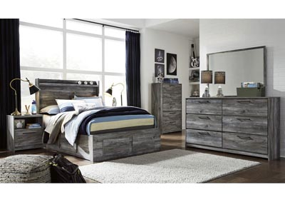 Image for Baystorm Gray Full Storage Bed w/Dresser and Mirror