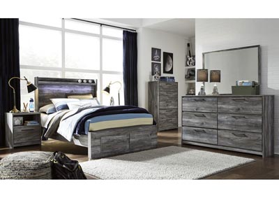 Image for Baystorm Gray Full Platform Storage Bed w/Dresser and Mirror