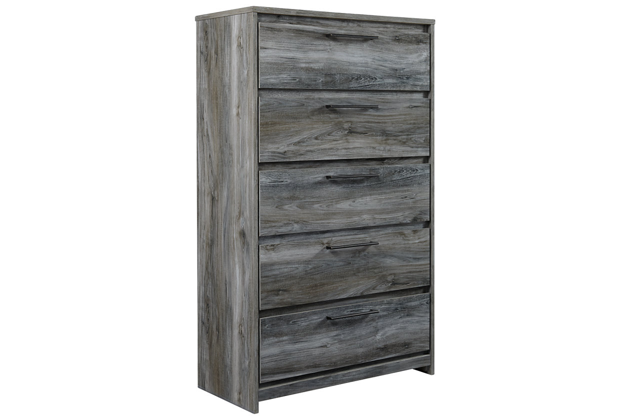 Image for Baystorm Gray Five Drawer Chest