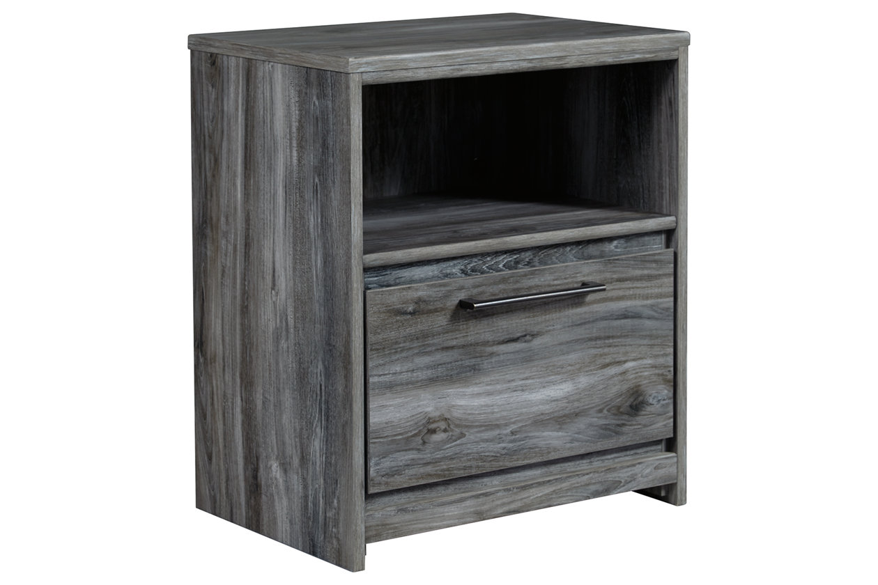 Baystorm Gray One Drawer Nightstand,Signature Design By Ashley