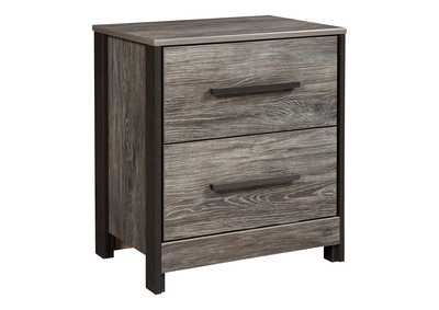 Cazenfeld Black/Gray Two Drawer Nightstand