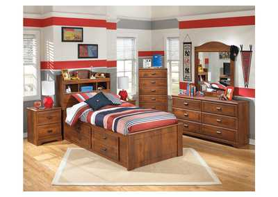 Image for Barchan Twin Bookcase Bed w/ Storage, Dresser & Mirror