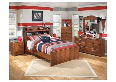 Image for Barchan Full Bookcase Bed, Dresser & Mirror