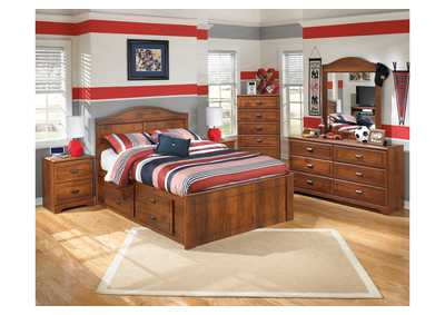 Image for Barchan Full Panel Bed w/ Storage, Dresser & Mirror