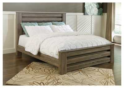 Zelen Warm Gray Full Panel Bed