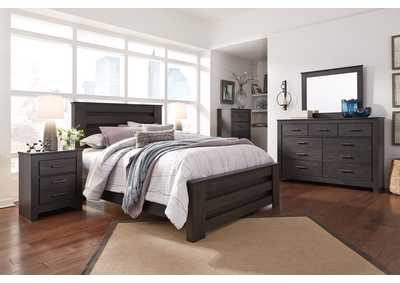 Brinxton Black Queen Panel Bed