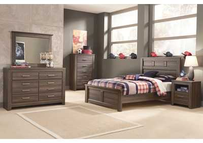Image for Juararo Full Panel Bed, Youth Dresser & Mirror