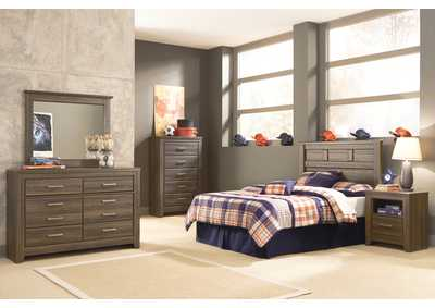 Image for Juararo Full Panel Headboard, Youth Dresser & Mirror