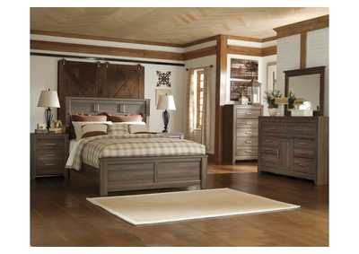 Image for Juararo King Panel Bed, Dresser & Mirror