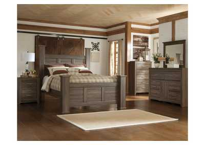 Image for Juararo King Poster Bed, Dresser & Mirror
