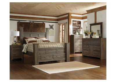 Image for Juararo King Poster Storage Bed w/Dresser and Mirror