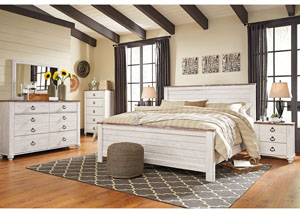 Image for Willowton California King Panel Bed w/Dresser and Mirror