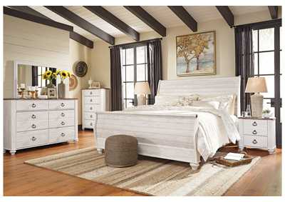 Image for Willowton King Sleigh Bed w/Dresser and Mirror