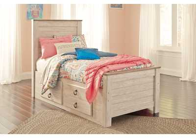 Image for Willowton Whitewash Twin Storage Bed