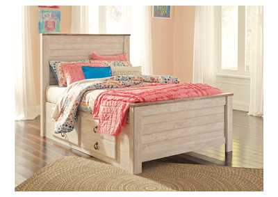 Image for Willowton Full Panel Bed with 2 Storage Drawers