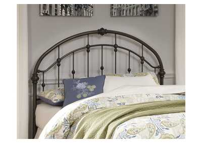 Image for Bronze Finish Metal Queen Headboard