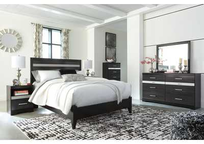 Image for Starberry Black Queen Panel Bed and Dresser w/Mirror