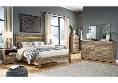 Image for Rusthaven Queen Panel Bed w/Dresser and Mirror