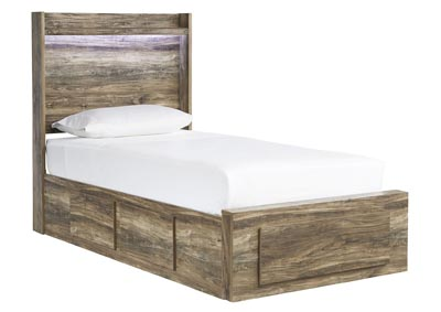 Image for Rusthaven Brown Storage Twin Bed