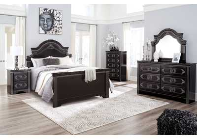 Image for Banalski Brown Queen Panel Bed w/Dresser and Mirror