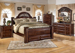 Image for Gabriela King Poster Bed w/ Storage