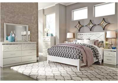 Image for Dreamur Champagne Queen Panel Bed w/ Dresser and Mirror
