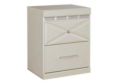 Dreamur Champagne Two Drawer Night Stand,Signature Design By Ashley