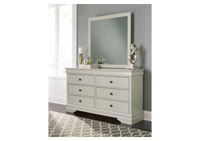 Jorstad Gray Dresser & Mirror,Signature Design By Ashley