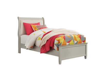 Jorstad Gray Upholstered Sleigh Full Bed