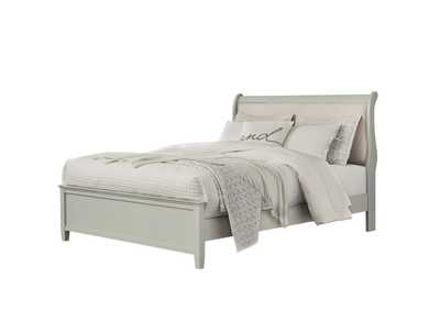 Jorstad Gray Upholstery Sleigh Queen Bed,Signature Design By Ashley