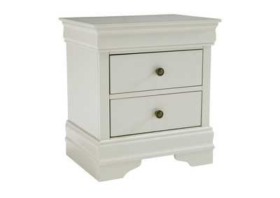 Jorstad Gray Two Drawers Nightstand
