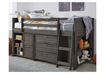 Image for Caitbrook Gray Loft Under Bed Storage