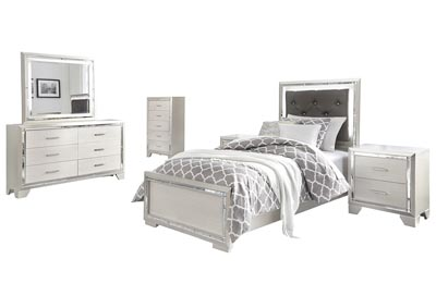 Image for Lonnix Twin Panel Bed w/Dresser & Mirror