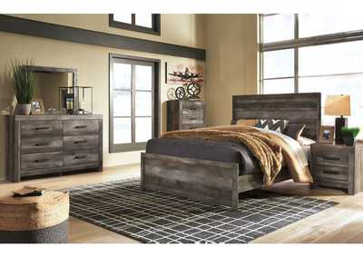 Image for Wynnlow Gray Queen Panel Bed and Dresser w/Mirror